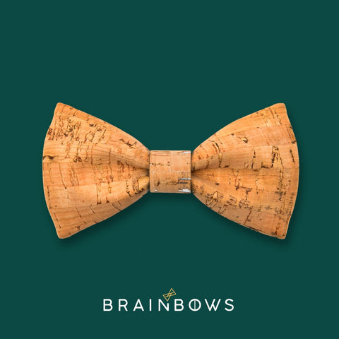 bamboo cork bow tie with bamboo silver core