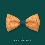 cork bow tie with teal core
