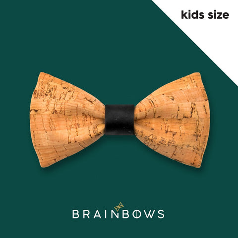 kids cork bow tie with black core