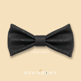black cork bow tie