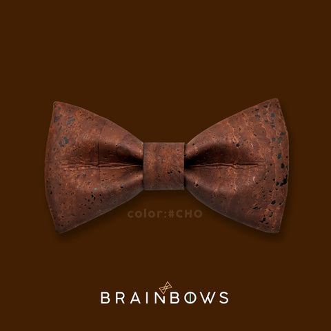 chocolate color cork bow tie