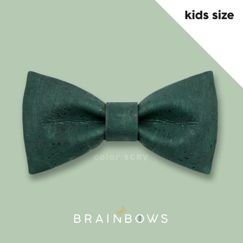 dark green hipbow cork bow tie