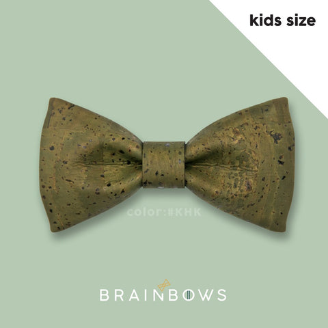 grass green army olive cork bow tie