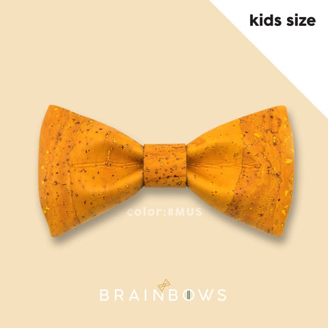 mustard yellow cork bow tie