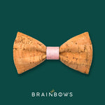 cork bow tie with pink core