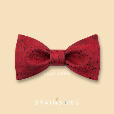 dark red cork bow tie