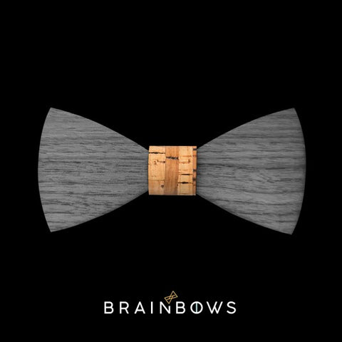 wooden bow tie extra core bamboo in black
