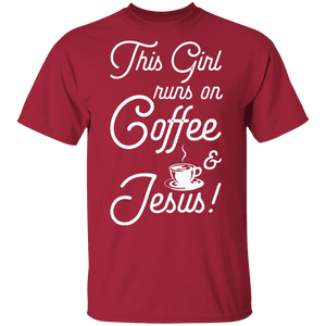 Runs on Coffee - T-Shirt - My Christian Shop