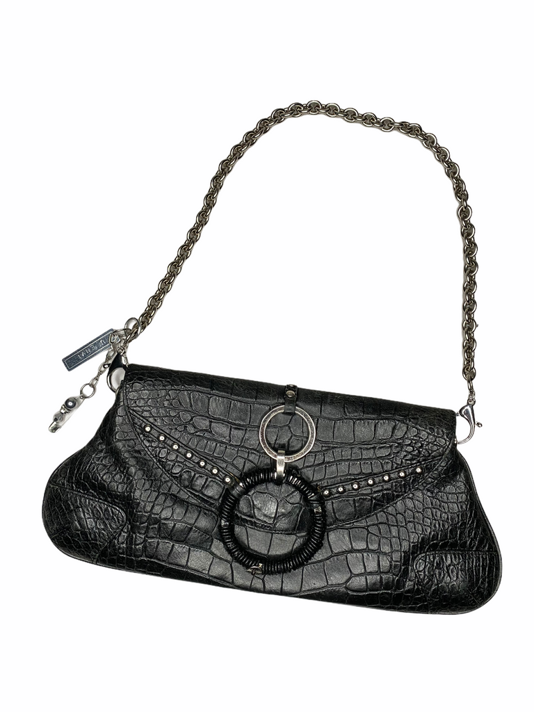 "THE ""PUNK CROC"" CHAIN BAG"