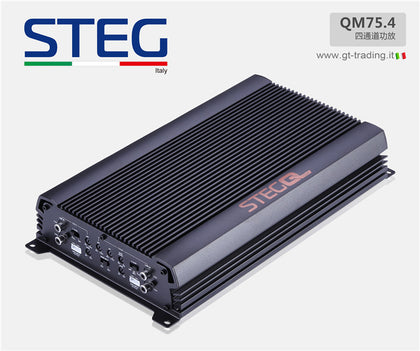 Steg QM75.4 amplificatore 4 canali 75x4 rms hi-level finali audiophile new 2019