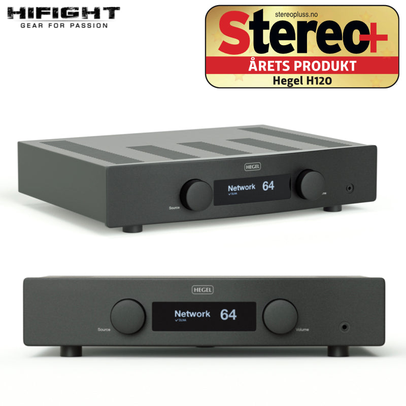 Hegel H120 nero amplificatore DAC NETWORK perfetto per l'era digitale 2x120 watt