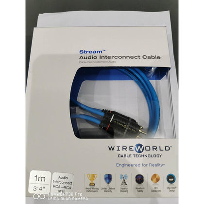 Wireworld steam da 1MT cavo rca-rca rame ofc dna helix connettori 24K gold