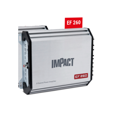 Impact EF260 amplificatore 2x60 watt rms AB auto turn on ingressi hi-level