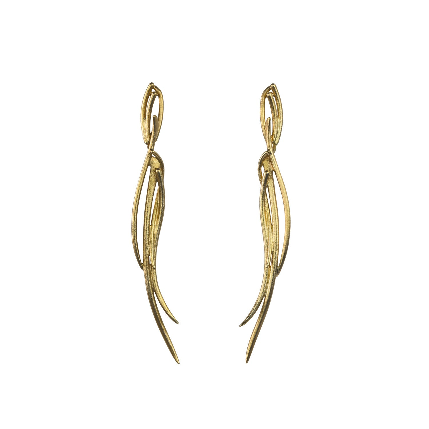 Sula long earrings gold
