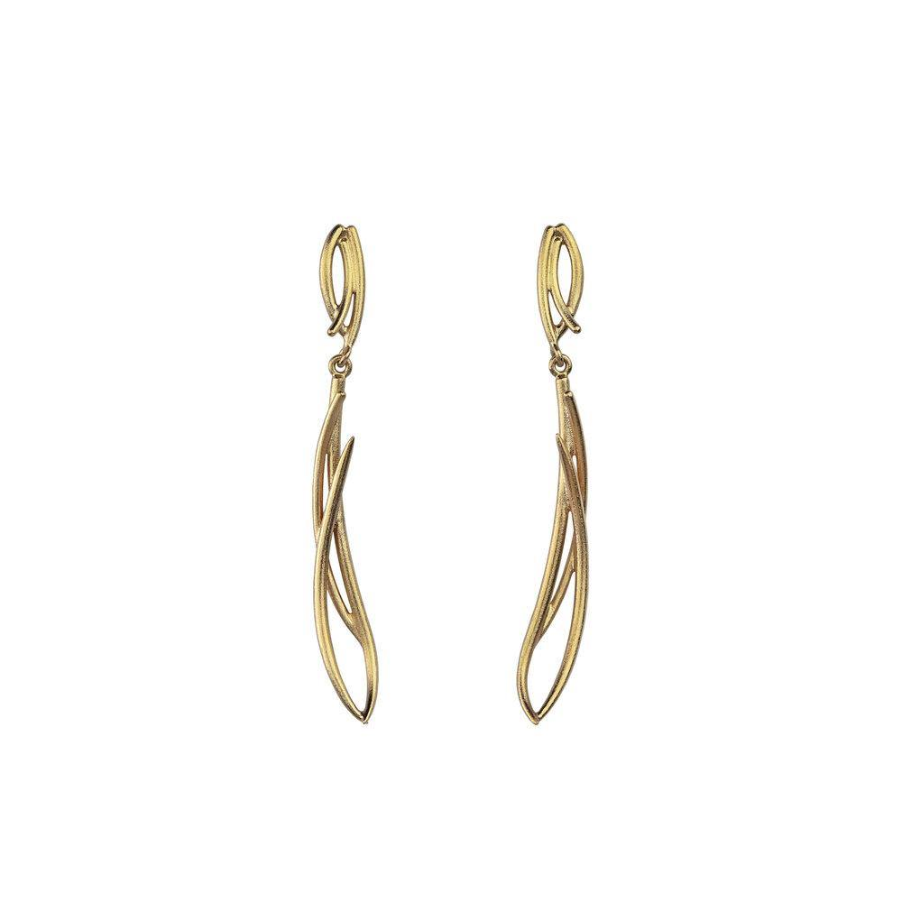 Sula mid earrings/ gold -  Pahkala