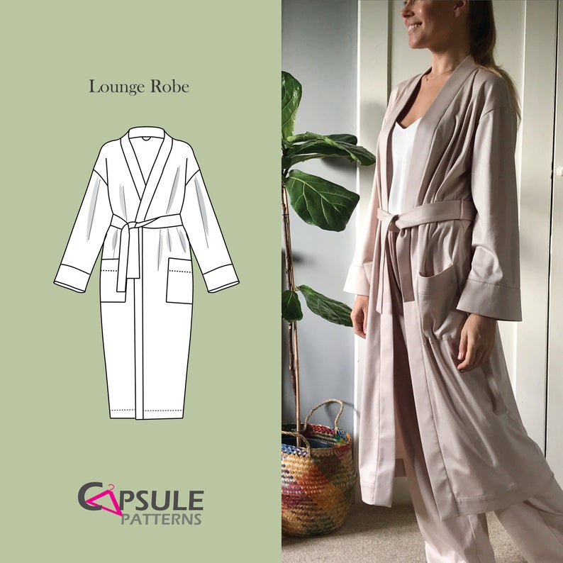 The Lounge Robe by Capsule Patterns