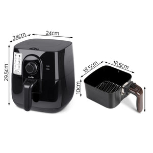 5 Star Chef 3L Oi Free Air Fryer - Black