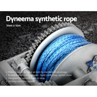 3 Speed Hand Winch Synthetic Rope