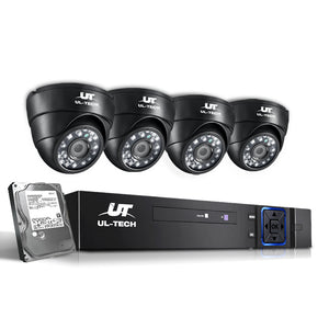CCTV Security System 2TB 8CH DVR 1080P 4 Camera Sets