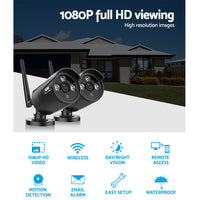 Wireless CCTV System 2 Camera Set For DVR Outdoor Long Range 1080P