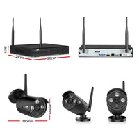 CCTV Wireless Security System 2TB 8CH NVR 1080P 4 Camera Sets