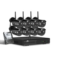 CCTV Wireless Security System 2TB 8CH NVR 1080P 8 Camera Sets