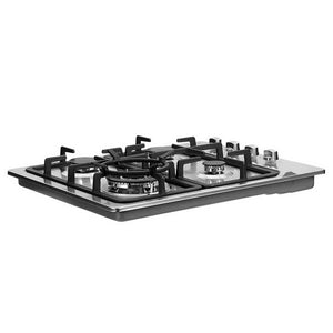 Gas Cooktop 60cm Kitchen Stove 4 Burner Cook Top NG LPG Stainless Steel Silver