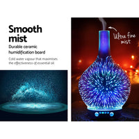Aroma Diffuser 3D LED Light Oil Firework Air Humidifier 100ml