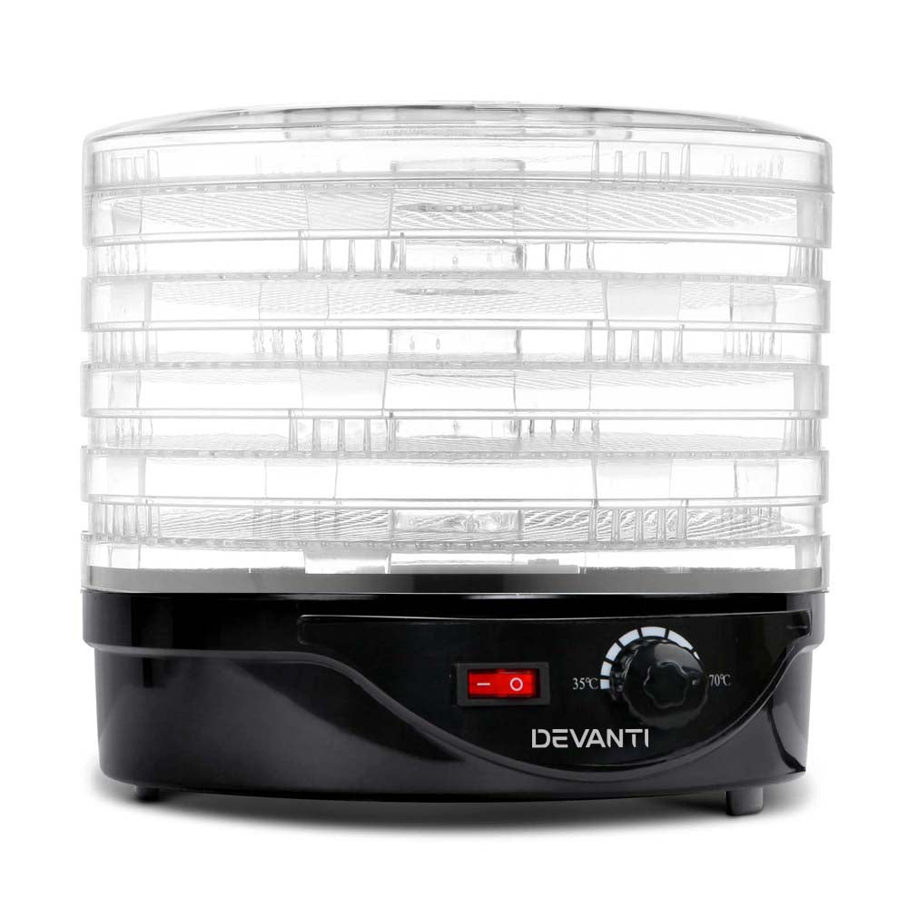 Food Dehydrator with 5 Trays - Black