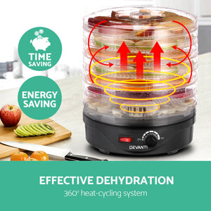 Food Dehydrator with 7 Trays - Black
