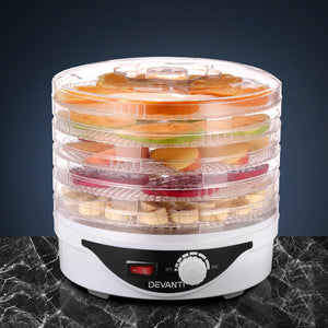 Food Dehydrator with 5 Trays - White