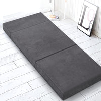 Bedding Folding Foam Portable Mattress Grey