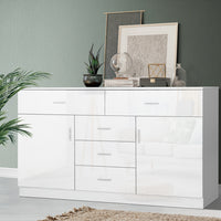 Buffet Sideboard Cabinet High Gloss Storage Dresser Table Cupboard White