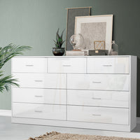9 Chest of Drawers Cabinet Dresser Table Lowboy Storage Bedroom