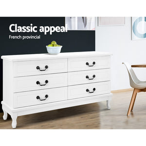 6 Chest of Drawers Dresser  Lowboy Storage Cabinet Bedroom White