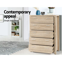 5 Chest of Drawers  Dresser Table Bedroom Storage Cabinet