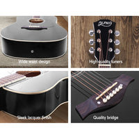41 Inch Wooden Acoustic Guitar Black