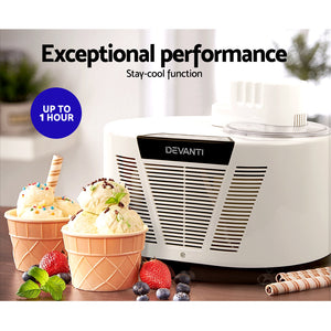 Ice Cream Maker with Built in Compressor