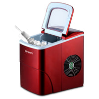 Portable Ice Cube Maker Machine 2L Home Bar Benchtop Easy Quick Red