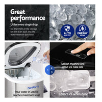 2.4L Stainless Steel Portable Ice Cube Maker