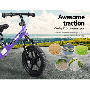 "Bike Ride On Toys Puch Bicycle Wheels Toddler Baby 12"" Bikes Purple"