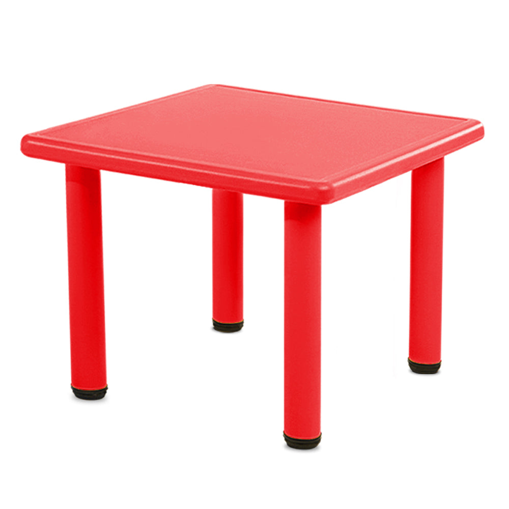 Kids Table Study Desk Children Furniture Plastic Red