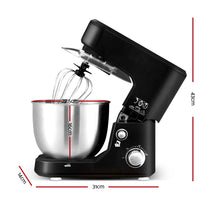 Electric Stand Mixer 1000W Kitchen Food Beater Cake Aid Whisk Bowl Hook