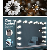 Holly Wood Make Up Mirror with LED Light Bulbs