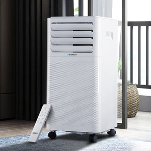 Portable Air Conditioner Cooling Mobile Fan Cooler Dehumidifier White 2000W
