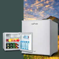 55L Portable Bar Fridge Freezer Fridges Cooler 12/24V/240V Caravan Camper Silver