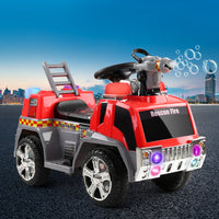 Kids Ride On Fire Truck Motorbike Motorcycle Car Red Grey