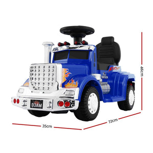 Ride On Cars Kids Electric Toys Car Battery Truck Childrens Motorbike Toy  Blue