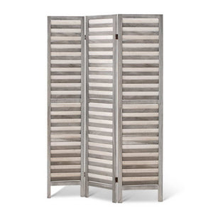 Room Divider Privacy Screen Foldable Partition Stand 3 Panel Grey