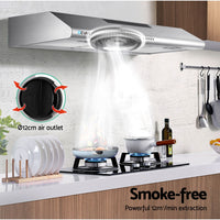 Fixed Range Hood Rangehood Stainless Steel Kitchen Canopy 90cm 900mm